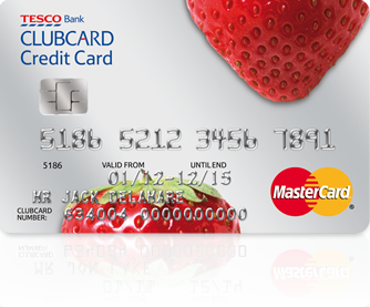 Tesco Strawberry Credit Card